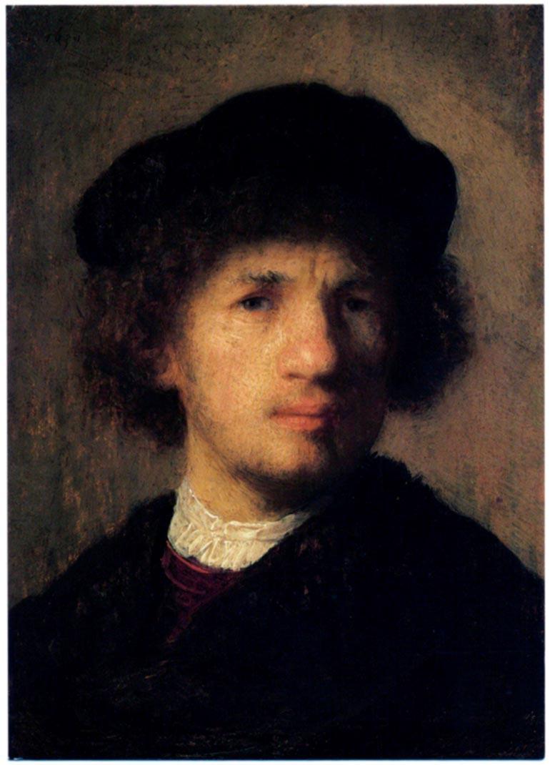 Tätä mittaamattoman arvokasta Rembrantin omakuvaa Herra B yritti myydä ostajaksi tekeytyneelle FBI-agentille viisi vuotta museovarkauden jälkeen. Kuvaa on ollut helppo kuljettaa, koska se on suunnilleen postikortin kokoinen.