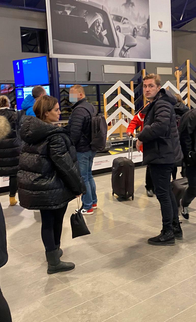 Stefan Therman ja Sofia Belórf lensivät sopuisasti Leville toissa viikon torstaina.