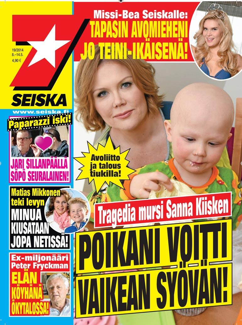 SEISKA 19/2014Syöpähoidotveivät pikku-veijarilta hiukset päästä seitsemän vuotta sitten.