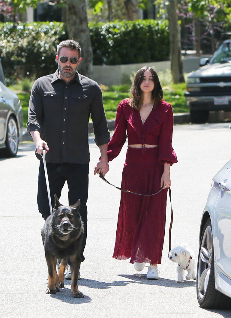 Ben Affleck and Ana de Armas Walking Their Dogs   -PICTURED: Ben Affleck and Ana de Armas -PHOTO by: BauerGriffin/INSTARimages.com