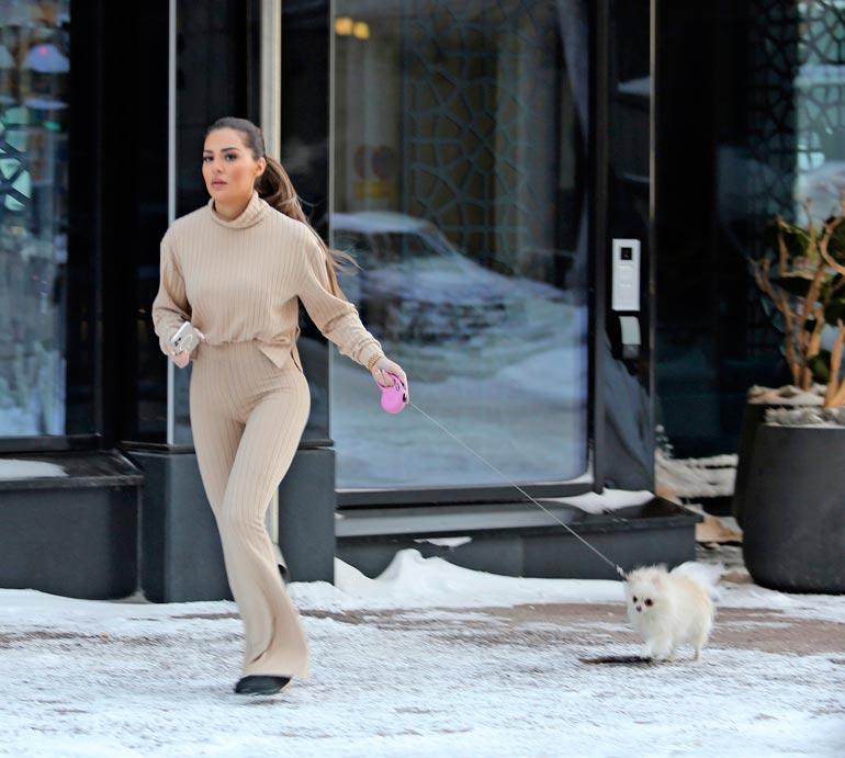 Seiskan paparazzi bongasi hiljattain Sofian ulkoiluttamasta Bambikoiraansa Helsingin keskustassa.