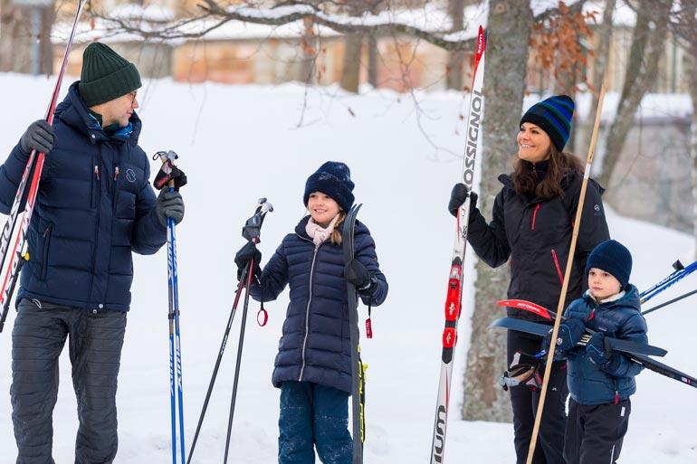 Vickan-äiti ja valmentajaisä Daniel ovat kasvattaneet lapsistaan urheilullisia.