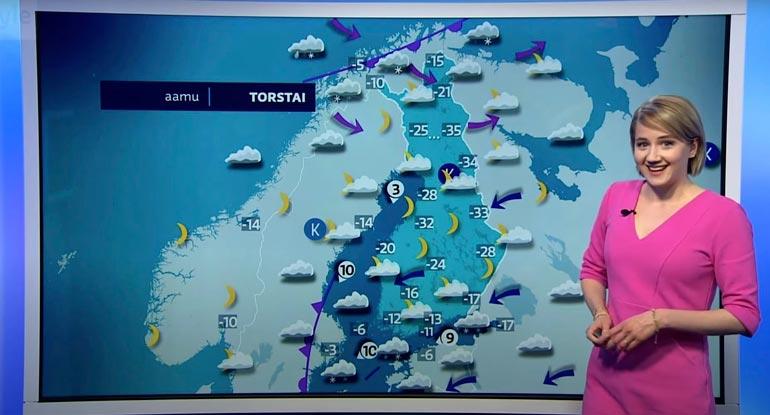 Opintoaikojen työpaikka ketjuravintolassa vaihtui ensin sääpäivystykseen ja nyttemmin Suomen pidetyimmäksi säiden ennustajaksi. Viime viikolle oli luvassa kylmää.