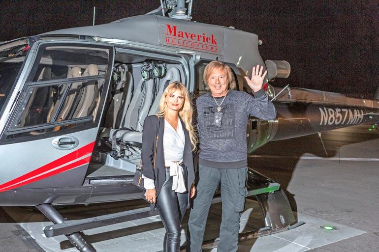 – Voi pojat, Danny innostui, kun Seiska vei parin öiselle helikopterilentelylle.