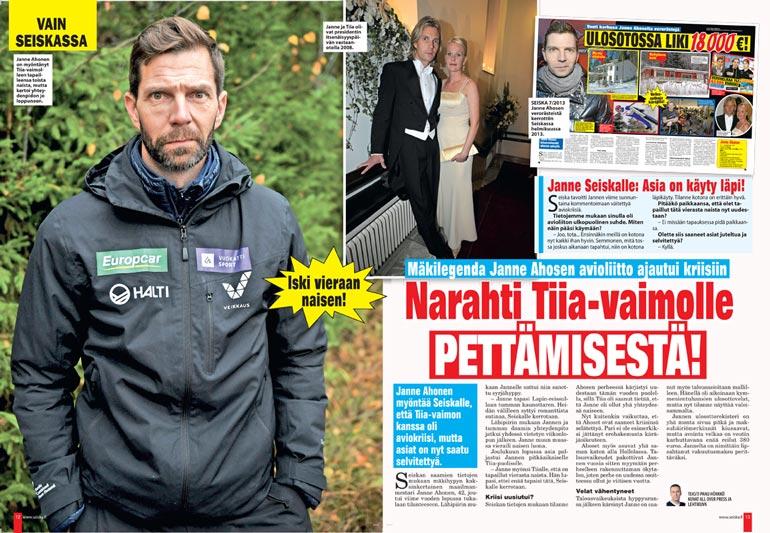 SEISKA 12/2020 Seiska paljasti mäkikotkan uskottomuuden vuosi sitten. Tuolloin Janne vakuutti, että asia on sovittu vaimon kanssa.