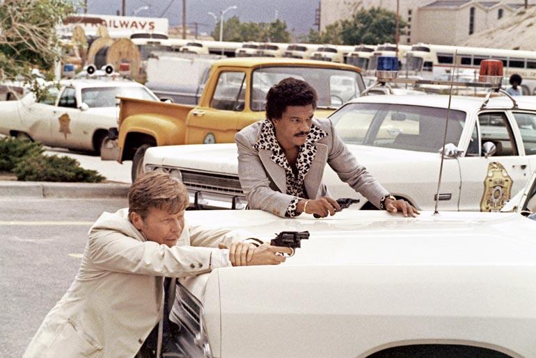 Albert loi mittavan uran televisio- ja elokuvarooleissa, joita on laskettu olevan yli 150. Kuva elokuvasta The Take vuodelta 1974.
