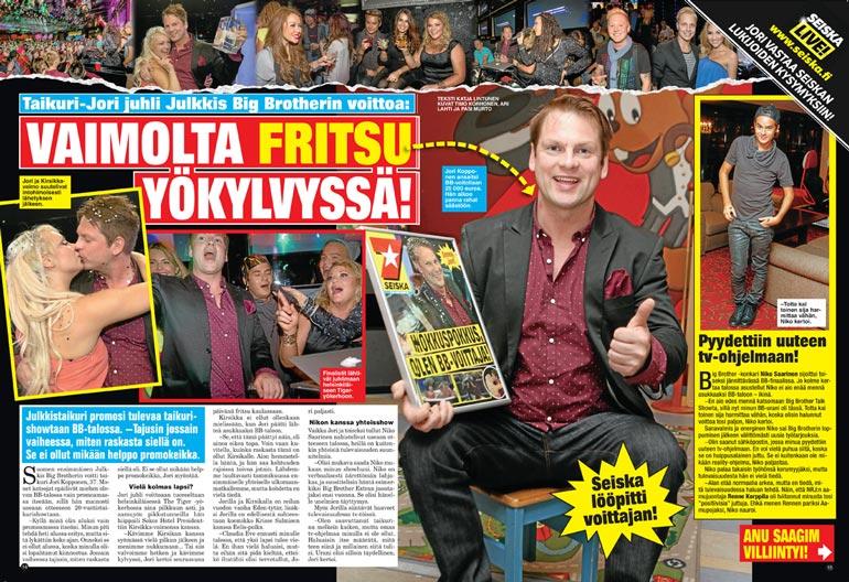 SEISKA 42/2013 Seiska oli tietysti paikalla, kun Suomen ensimmäinen julkkis-BB-voittaja kruunattiin yli seitsemän vuotta sitten.