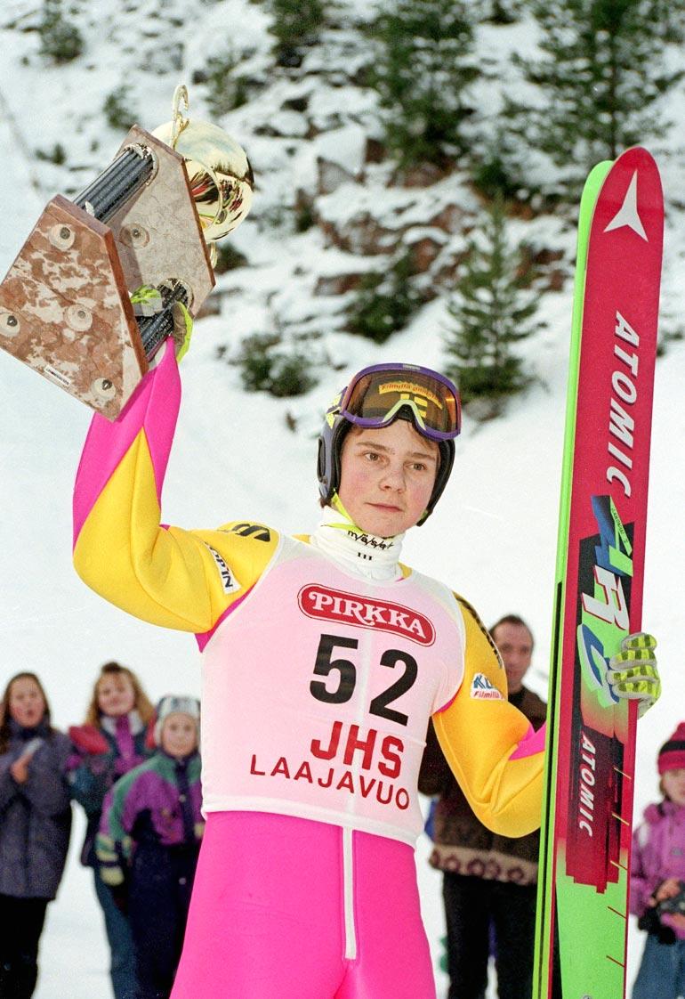 Keski-Suomen mäkiviikon voitto tuli teiniJannelle vuonna 1993.