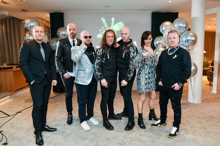 20210113, Helsinki. The Voice of Finland 10. tuotantokauden pressi. Kuvassa Heikki Paasonen, Juha Tapio, Pyhimys, Sipe Santapukki, Toni Wirtanen, Maija Vilkkumaa ja Redrama.
