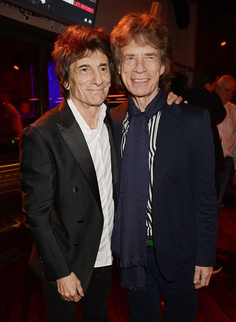 Ronnie Wood Mick Jagger