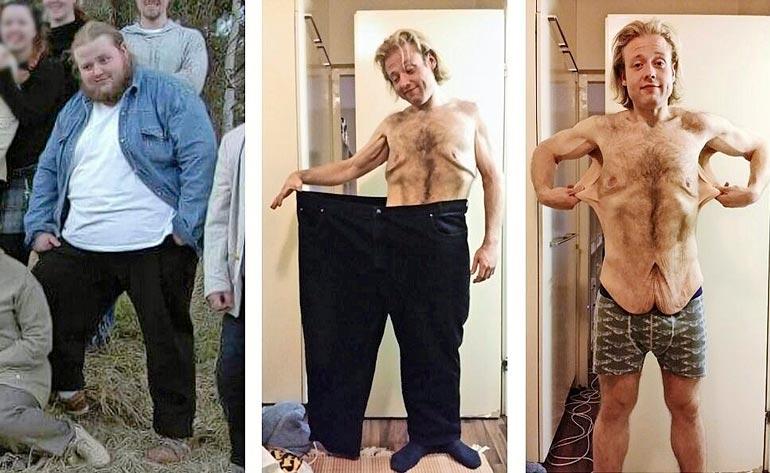 Tony painoi tuhdeimmillaan 204 kiloa vuonna 2008. Vuonna 2014 painoa oli pudonnut jo lähes 130 kiloa!