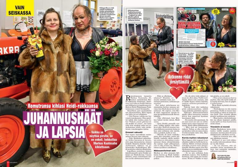 SEISKA 51/2020 Markuksen ja Heidin hääsuunnitelmista kerrottiin Seiskassa joulun alla.