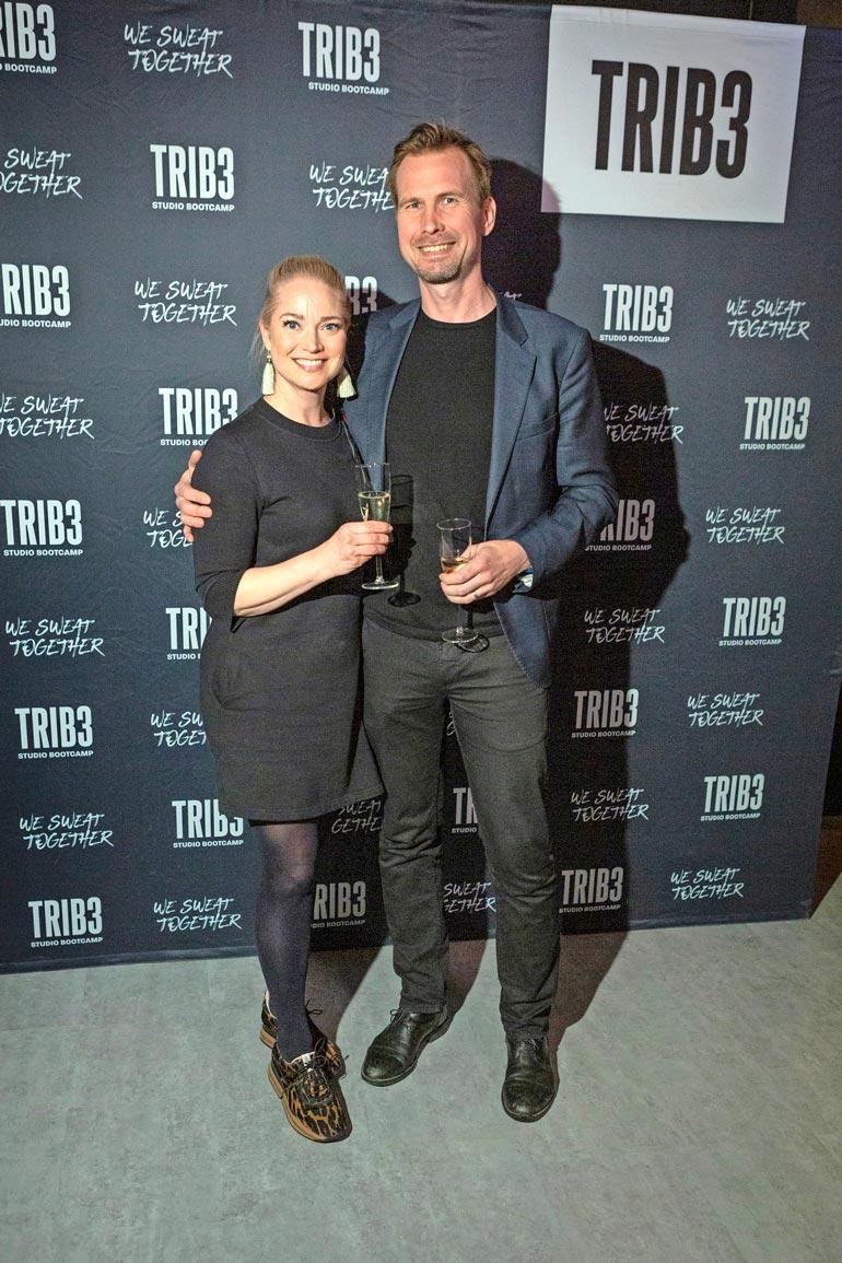 Pippa ja Markku ovat alkujaan kohdanneet helsinkiläisen Tiger-yökerhon tanssilattialla 20 vuotta sitten. Tämä kuva on vuodelta 2019.