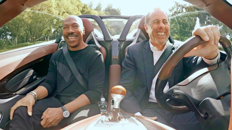 Näyttelijä Eddie Murphy pääsi vuonna 2019 Jerryn  Porsche Carrera GT:n kyytiin ohjelmassa Comedians  in Cars Getting Coffee.