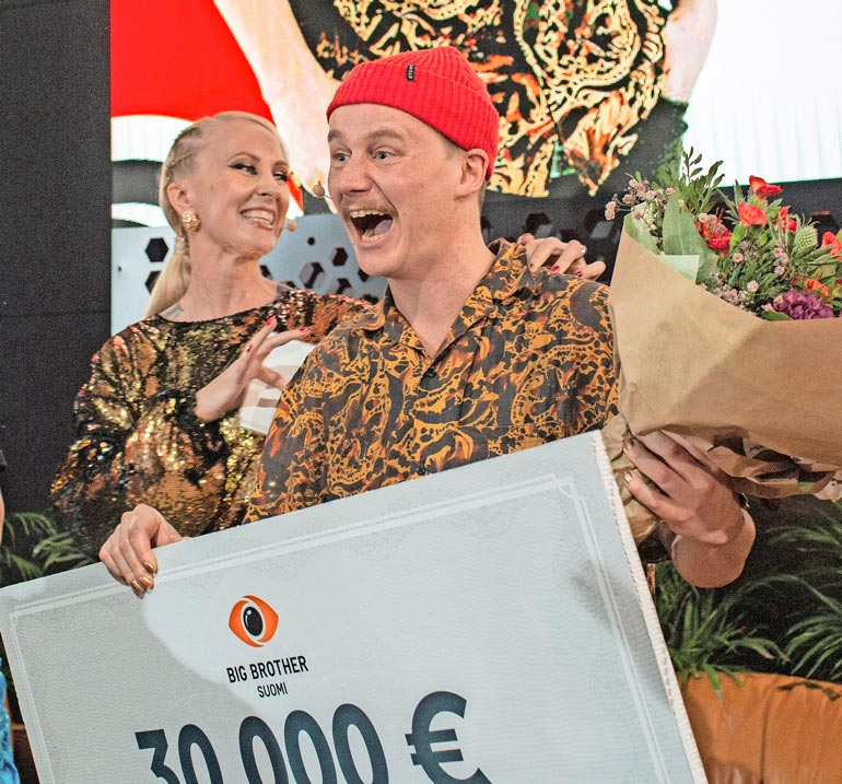 Kristian voitti Big Brotherista 30 000 euroa syksyllä 2019.