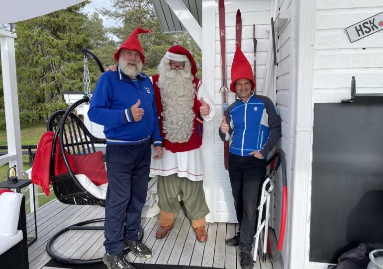 Juha Mieto ja Teemu Virtanen tapasivat menneellä viikolla joulupukin Rovaniemellä.