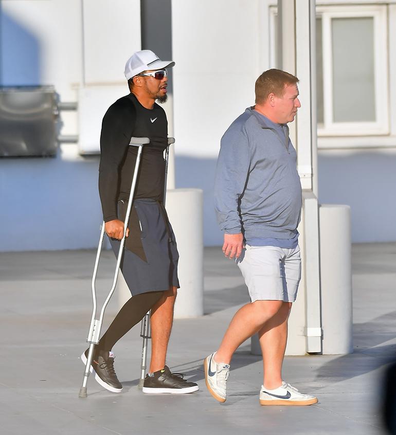 Tiger Woods lentokentällä