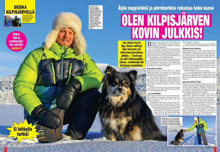 SEISKA 6/2019 Helmikuussa 2019 Seiskan haastattelussa Akin juttu luisti mainosti, ja yleensä omissa oloissaan viihtyvä tv-tähti esitteli mieluusti kotiseutujaan.