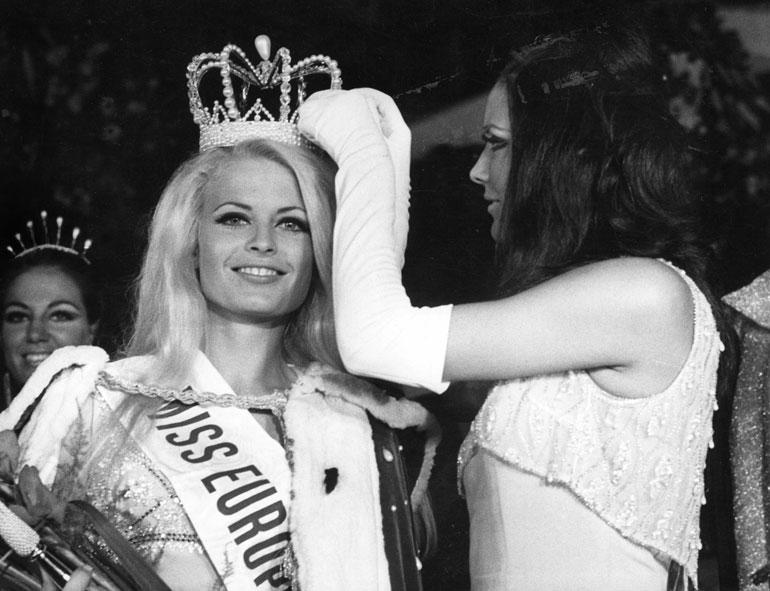 Leena Brusiin kruunattiin Miss Euroopaksi vuonna 1968.
