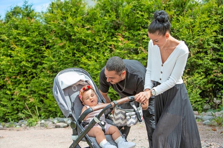 Perhe viihtyy rauhallisessa Espoossa, missä Arman on asunut lapsuudestaan asti.