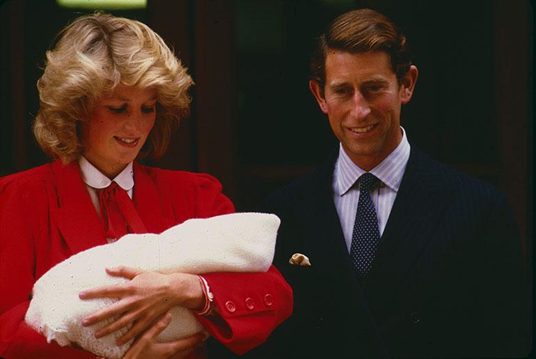 Prinssi Charles, prinsessa Diana ja prinssi Harry