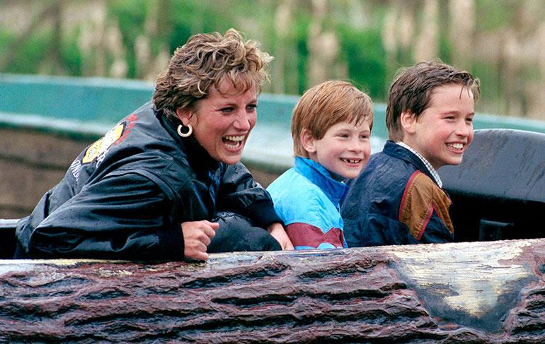 Prinsessa Diana ja prinssit William ja Harry