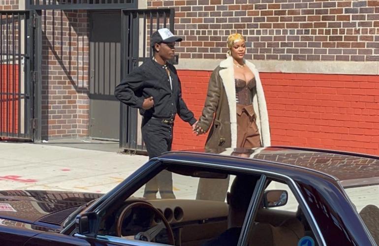 Rihanna ja Asap astelivat rakastuneina Bronxissa.