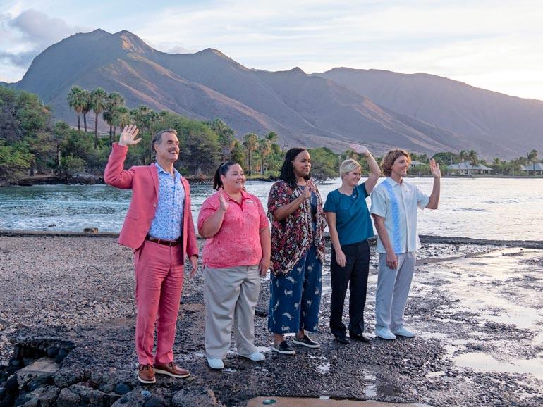 Koko näyttelijäkaarti pääsi maistamaan luksuselämää oikeastikin, kun sarjaa kuvattiin kaksi kuukautta koronaeristyksessä Havaijilla.