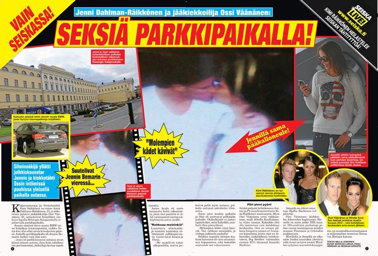 SEISKA 40/2013 Jymypommi laukesi, kun Seiska kertoi parin salaseksistä Jennin autossa.