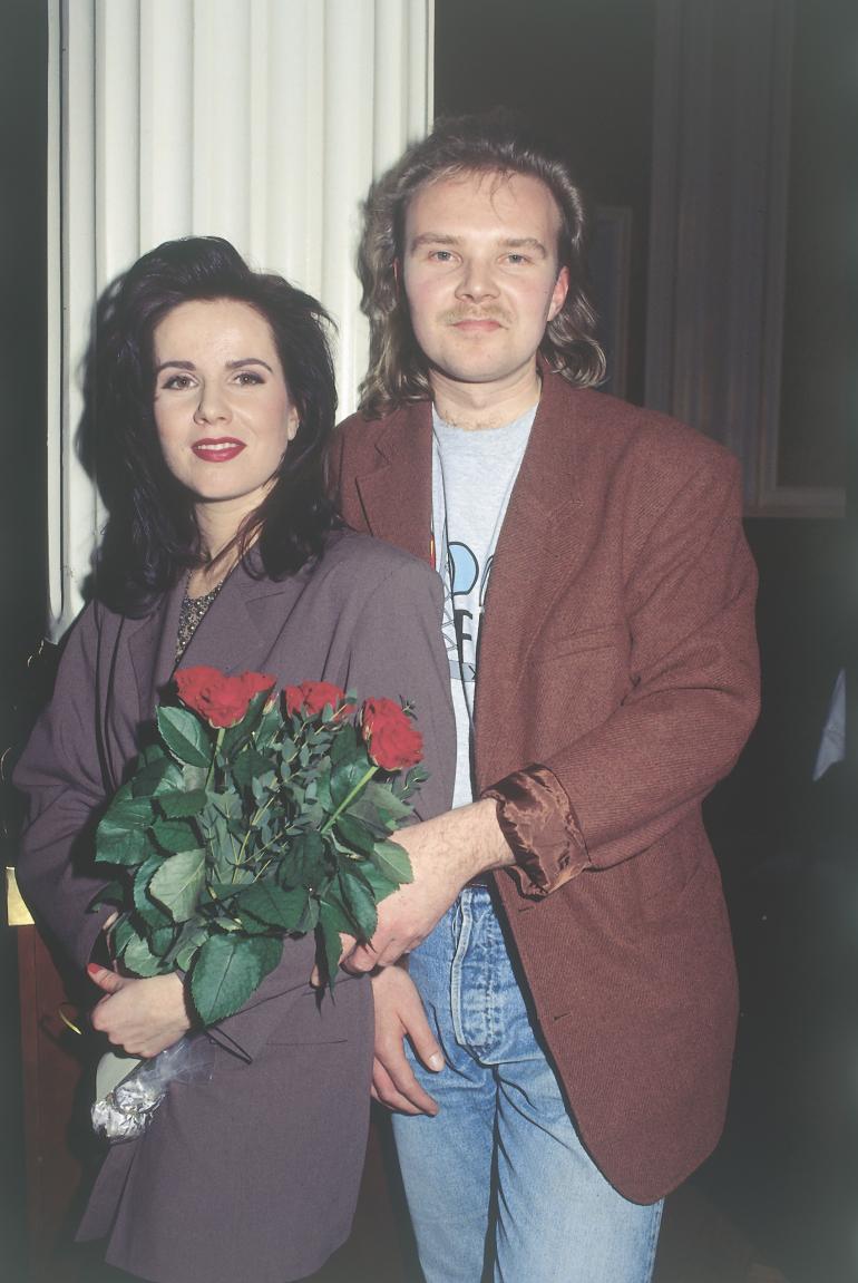 Kaija Koo ja Markku Impiö viihtyivät yhdessä yli 21 vuotta. Myös timanttisena työparina tunnettu kaksikko erosi Markun juomisen takia. Kuva vuodelta 1993.