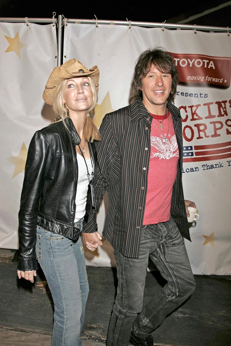Heather on ollut naimisissa muusikoiden Tommy Leen ja Richie Samboran kanssa. – Olemme parhaita ystäviä, Richie kuvailee suhdettaan ex-vaimoonsa.