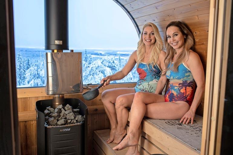 Saunomista rakastaville CatCat-naisille maisemat ovat tärkeitä. Tämä sauna ja maisema löytyvät Ylitorniosta.