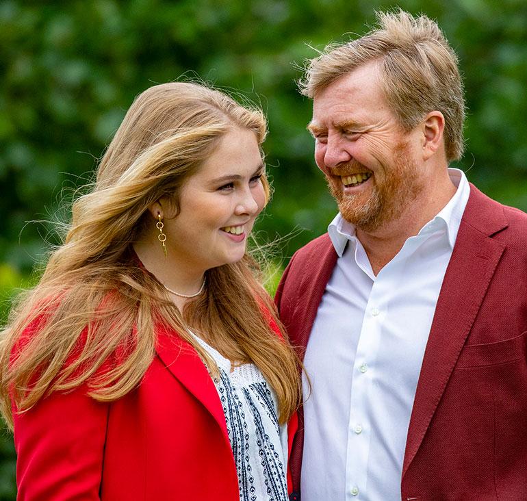 Kuningas Willem-Alexander ja kruununprinsessa Amalia