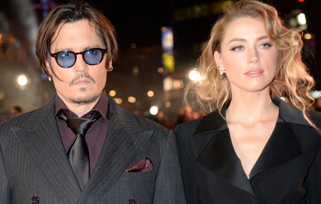 Johnny Depp ja Amber Heard yössä.