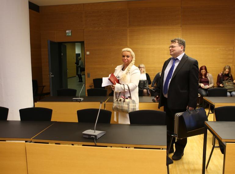 Johanna Tukiainen oikeudessa