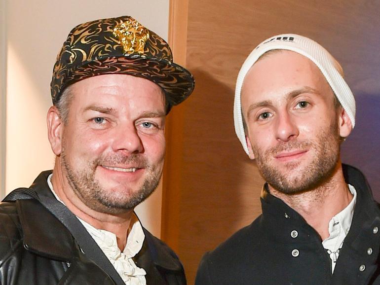 Jari Sillanpää ja Siim yhdessä.