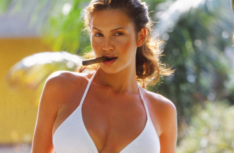 Janina Frostell Kuubassa vuonna 2000.