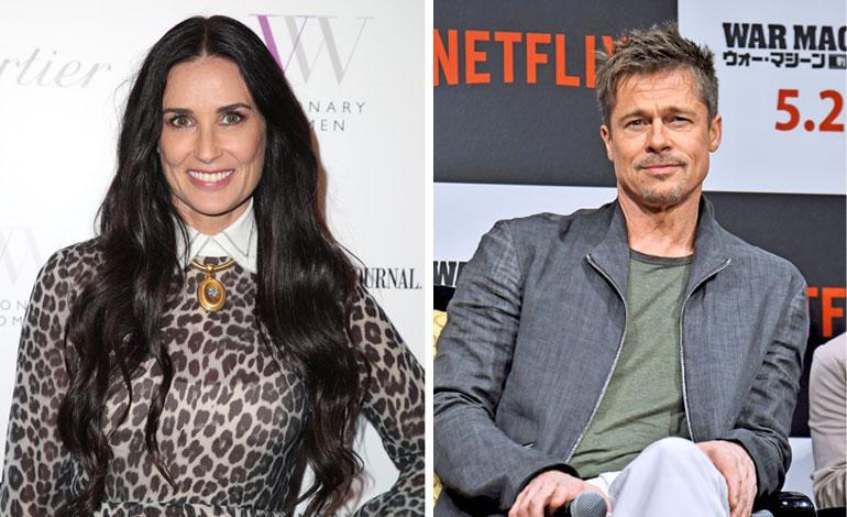 Demi Moore himoitsee Brad Pittiä.