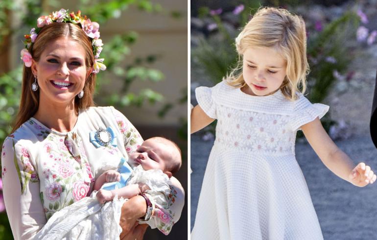Ruotsin prinsessa Madeleine, prinsessa Adrienne ja prinsessa Leonore