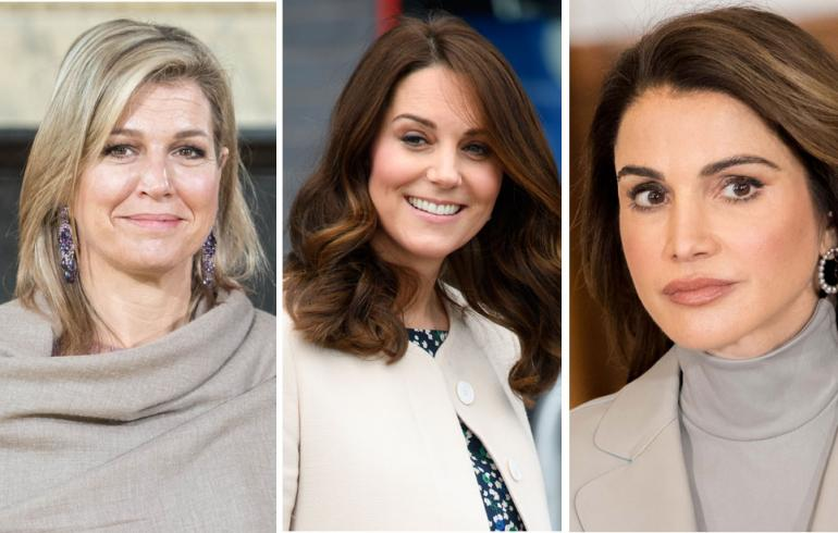Hollannin kuningatar Maxima, Cambridgen herttuatar Catherine ja Jordanian kuningatar Rania