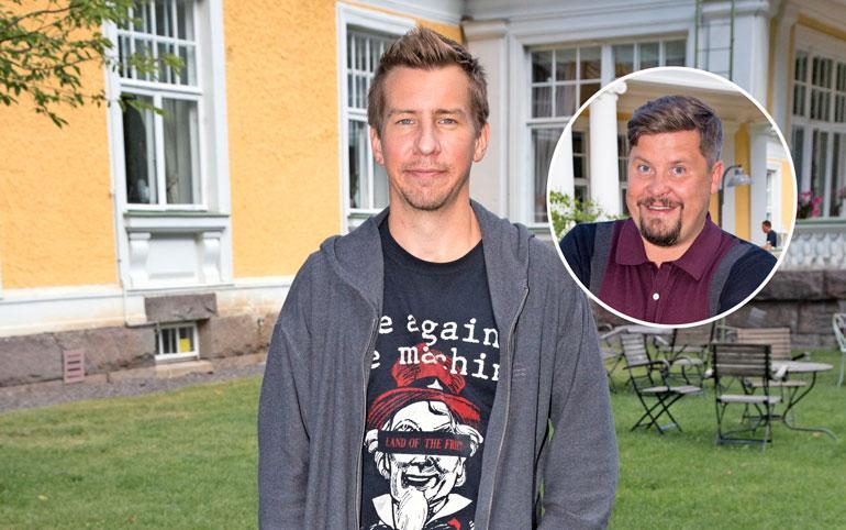 Aku Hirviniemi lähti Janne Katajan kuorsaamista karkuun.