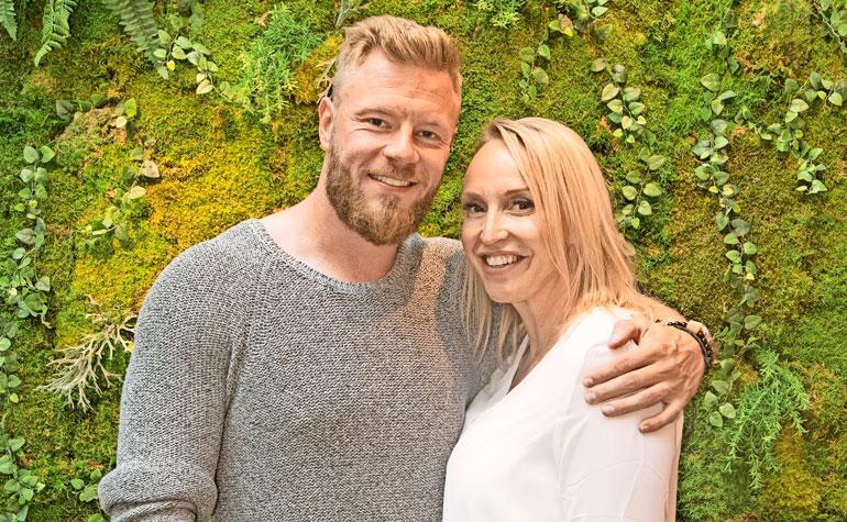 Juha ja Jutta Rouvinen avioituivat Italiassa.