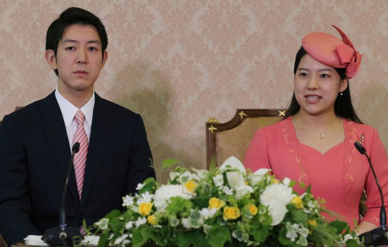 Japanin prinsessa Ayako ja Kei Moriya