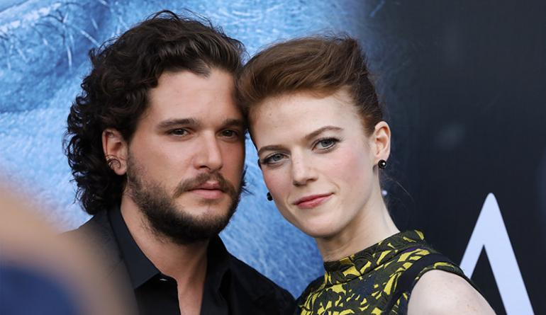 rose leslie ja kit harington
