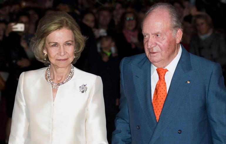 Espanjan kuningas Juan Carlos ja kuningatar Sofia