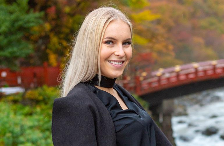 Alina Voronkova juhli Japanissa.