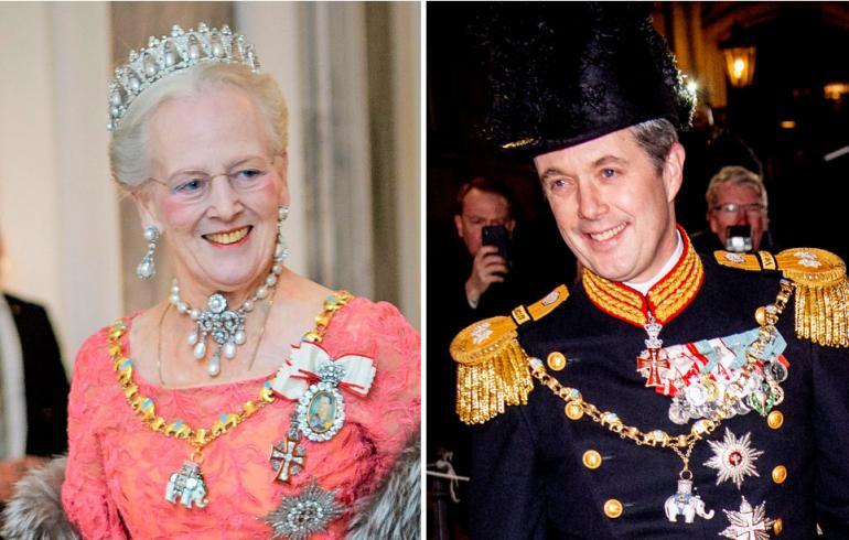 Tanskan kuningatar Margareeta ja kruununprinssi Frederik