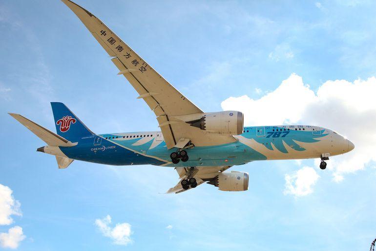 China Southern Airlinesin lento viivästyi.