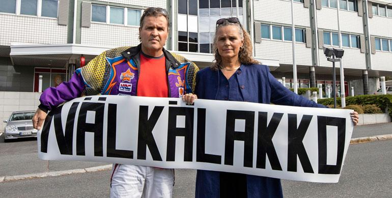 Nälkälakko Jari ja Marketta Hautakorpi