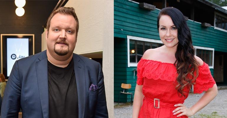 Sami Hedberg ja Saija Tuupanen seurasivat urheilua läheisissä tunnelmissa.